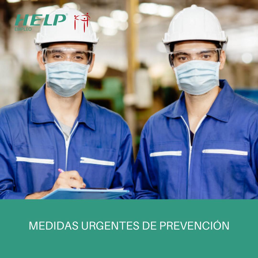 Medidas urgentes para adoptar en el entorno de trabajo.